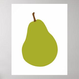 Impresión moderna de la pera para su cocina u hoga póster