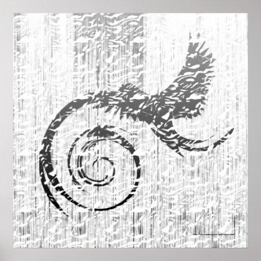 Impresión moderna gótica del pájaro de la nieve impresiones