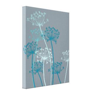 Impresión moderna gráfica de la lona del gris azul lienzo envuelto para galerías