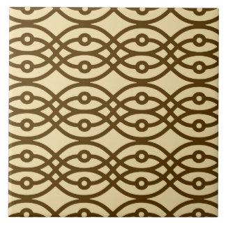 Impresión, moreno y marrón del kimono azulejo