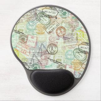 Impresión Mousepad del sello del pasaporte Alfombrillas De Raton Con Gel