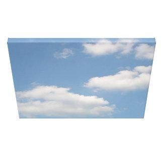 Impresión mullida de la lona de las nubes de cúmul impresión en lienzo estirada