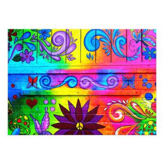 impresión mural psicodélica de la foto del hippie  fotografías