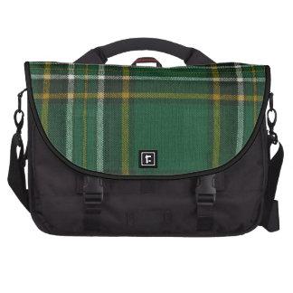 Impresión nacional irlandesa del tartán del bolso  bolsas de portátil