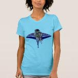 Impresión nativa de la Broche-detrás del diseño Camisetas