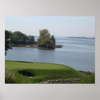 Impresión natural del agujero del golf de la belle poster