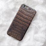 Impresión natural del cocodrilo de Brown Funda Barely There iPhone 6