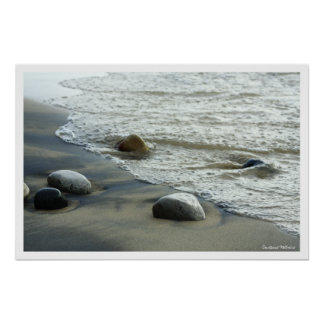 Impresión natural del poster de las rocas de la pl