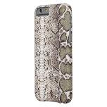 Impresión natural hermosa de la piel de serpiente funda de iPhone 6 barely there
