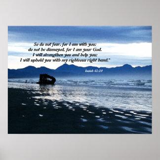 Impresión naufragada del 41:10 de Isaías del Schoo