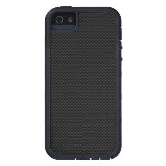 Impresión negra de la fibra de carbono iPhone 5 fundas