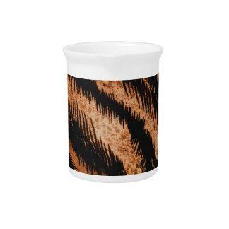 Impresión negra de la foto del modelo de la cebra jarras de beber