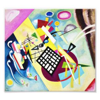 Impresión negra de la rejilla de Kandinsky Foto