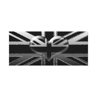 Impresión negra de Union Jack y de plata moderna d Lona Estirada Galerías