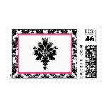 Impresión negra del cordón del damasco de 20 rosas sello