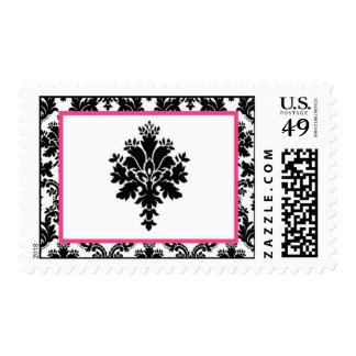 Impresión negra del cordón del damasco de 20 rosas envio