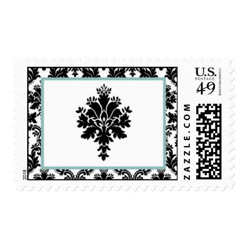 Impresión negra del cordón del damasco de 20 sellos