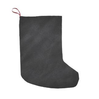 Impresión negra retra de la pizarra 2-Sided Calcetín De Navidad Pequeño