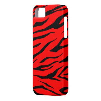 Impresión negra/roja imponente del tigre - caso iPhone 5 funda