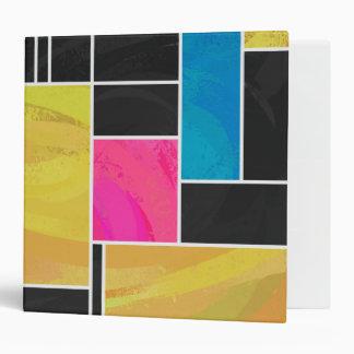 """Impresión negra rosada azul de Mondrian Carpeta 2"""""""