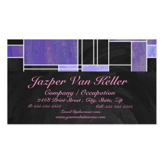 Impresión negra rosada púrpura de Mondrian Plantillas De Tarjeta De Negocio