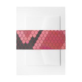 Impresión negra y roja de la serpiente cintas para invitaciones