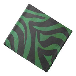 Impresión negra y verde de la cebra bandanas