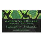 Impresión negra y verde de la serpiente plantilla de tarjeta personal