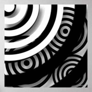 Impresión o poster del arte abstracto del peekaboo