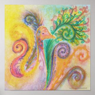 Impresión o poster del diseño colorido suave del p