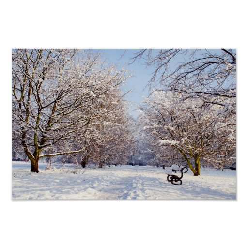 Impresión o poster del parque del banco de la niev