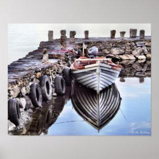 Impresión o poster sola del barco