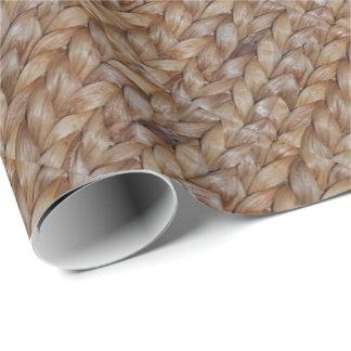 Impresión occidental de la armadura de cesta papel de regalo