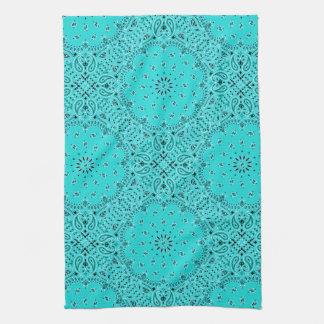 Impresión occidental de la bufanda del pañuelo de  toalla de mano