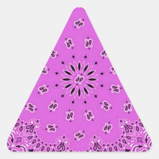 Impresión occidental de la bufanda del pañuelo de pegatina triangular