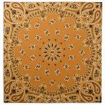 Impresión occidental de la bufanda del pañuelo de  servilletas imprimidas
