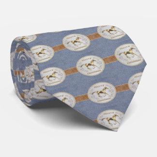 Impresión occidental del dril de algodón con la corbata