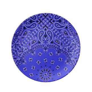 Impresión occidental exótica de la bufanda del Bbq Plato De Cerámica