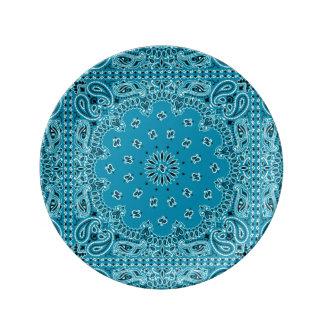 Impresión occidental exótica de la bufanda del Bbq Platos De Cerámica