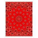 Impresión occidental roja de la bufanda del pañuel plantilla de membrete