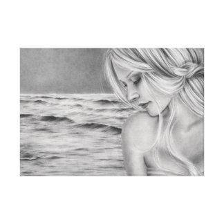 Impresión oceánica de la lona del soñador lienzo envuelto para galerias