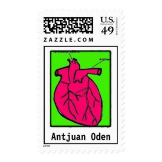Impresión Oden-Rosada del corazón de ANtjuan Franqueo