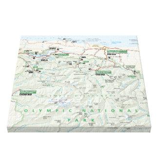 Impresión olímpica de la lona del mapa