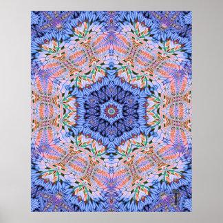 Impresión opulenta del arte de la variación 4 del impresiones