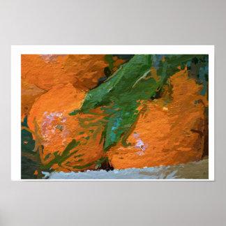 Impresión original del poster de las clementinas