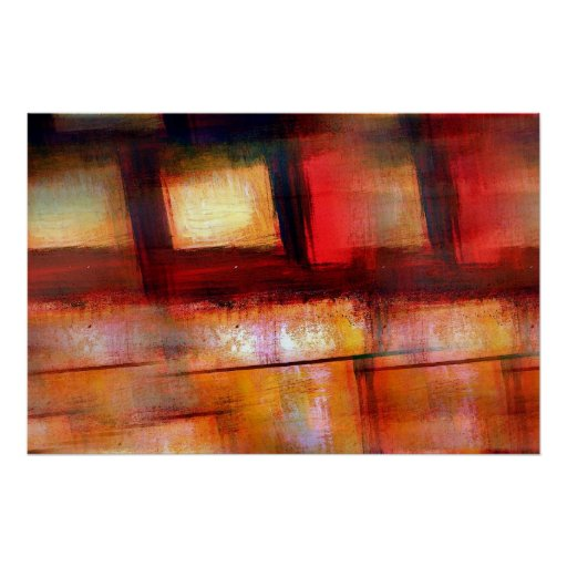 Impresión original del poster del arte abstracto