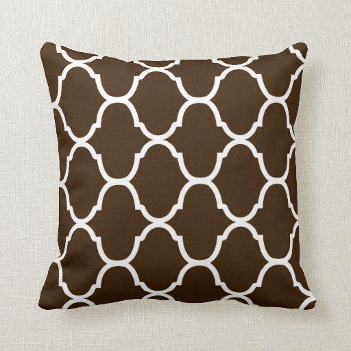 Impresión oscura del chalet del chocolate almohadas