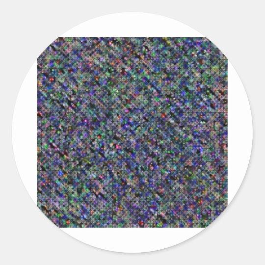 Impresión oscura pegatina redonda