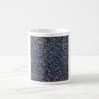 Impresión oscura taza básica blanca