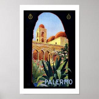 Impresión Palermo Sicilia del poster del vintage